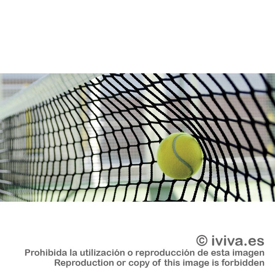 de9393bc3 Descripción: Red tenis sin nudos 3 mm, fabricada conforme Norma EN 1510. El  tamaño de la malla es de 45 mm y el cable tensor, que es de acero  galvanizado ...