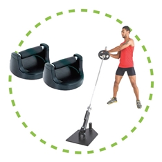 Core trainer y agarres flexiones